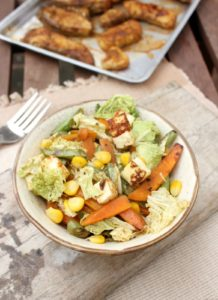 Asian stir fry paneer and veggies