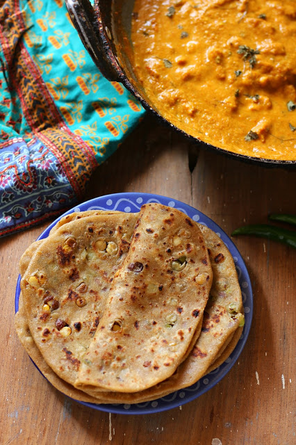 Sprouts stuffed paratha