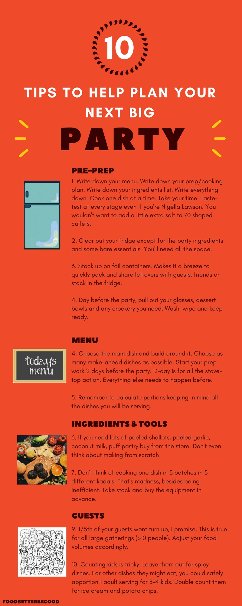 10 Tips to help plan a big party