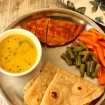 Chapathi dal grilled chicken - Diet meal
