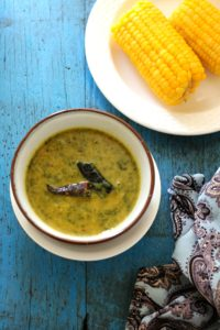 Keerai Masiyal - Greens and lentil soup