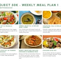 Project 50k - Weekly DIET-MEAL PLAN