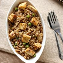 Paneer fried rice with kerala style matta rice
