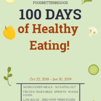 100 days Healthy eating