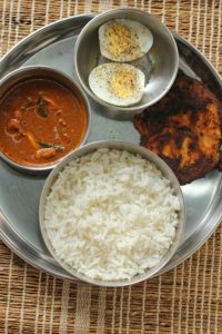 Rice & fish curry