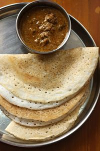Dosai & chicken curry